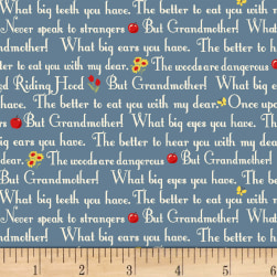 Little Red Riding Hood Story Blue Fabric