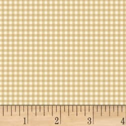 Little Red Riding Hood Gingham Tan Fabric