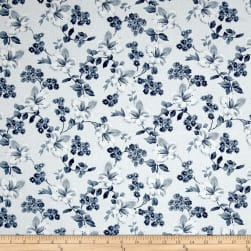 Adele Tossed Blossoms White Fabric