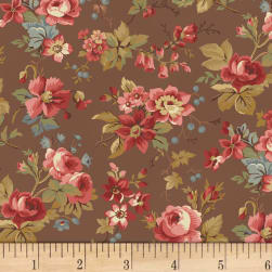 Larisa C.1870 Floral Brown Fabric