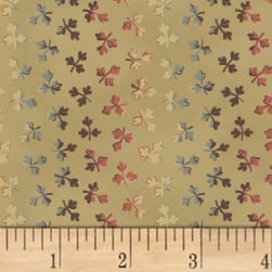 Larisa C.1870 Ombre Leaf Stripe Tan Fabric