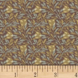Larisa C.1870 Leaf Dot Brown Fabric