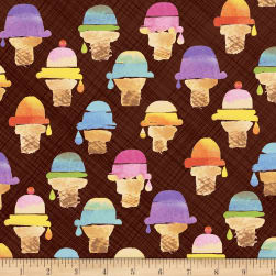 Sweet Treats Wafer Cone Chocolate Fabric