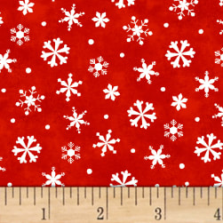 Winter Wishes Snowflakes Red