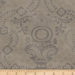 Farmhouse Living Urn Medallion Grey Fabric