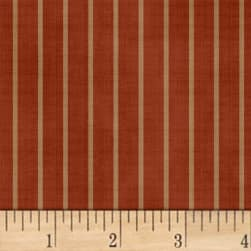Farmhouse Living Stripe Red Fabric