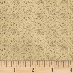 Farmhouse Living Dotted Floral Charcoal Fabric