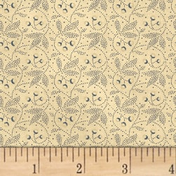 Farmhouse Living Dotted Floral Denim Fabric