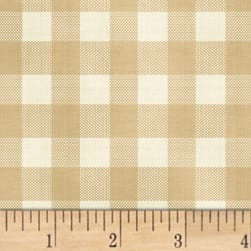 Farmhouse Living Check Tan Fabric