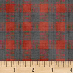 Farmhouse Living Check Red Fabric