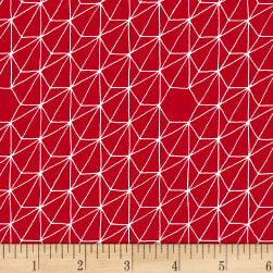 Foundation B.O.M. Hexagons Cherry Fabric