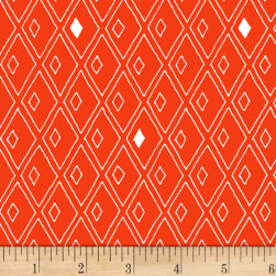 Foundation B.O.M. Diamonds Tomato Fabric