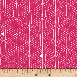 Foundation B.O.M. Triangles Peony Fabric