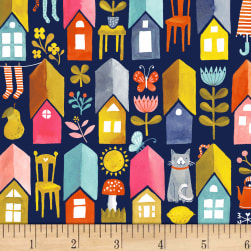 Paint The Town Play House Navy Fabric