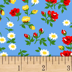 Sugar Sack Mini Floral Blue Fabric