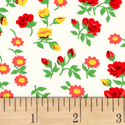 Sugar Sack Mini Floral Ivory Fabric
