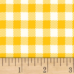 Sugar Sack Gingham Check Yellow