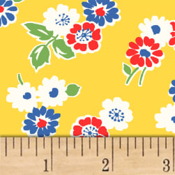 Sugar Sack Tossed Floral Yellow Fabric