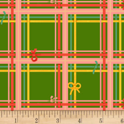Sugarplum Plaid Green Fabric