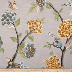 Dwell Studio Helene Floral French Grey Fabric