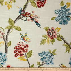 Dwell Studio Helene Floral Persimmon Fabric