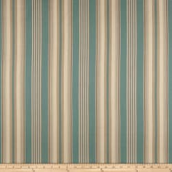Laura & Kiran Bordeaux Stripe Aqua Fabric