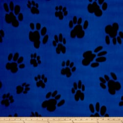 Polar Fleece Big Paw Blue Fabric