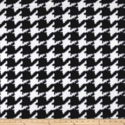 Polar Fleece Houndstooth Black/White Fabric