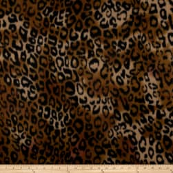 Polar Fleece Serval Amber Fabric