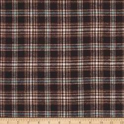 Yarn Dyed Flannel Bruno Brown Fabric