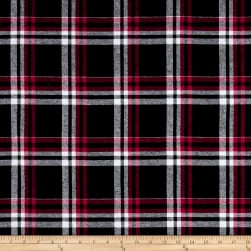 Yarn Dyed Flannel Gabriel Black/Red/Grey Fabric