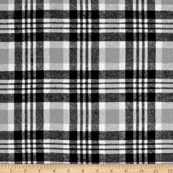 Yarn Dyed Flannel Gabriel Grey/Black Fabric