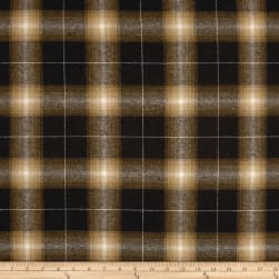 Yarn Dyed Flannel Newport Brown Fabric