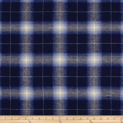 Yarn Dyed Flannel Newport Navy Fabric