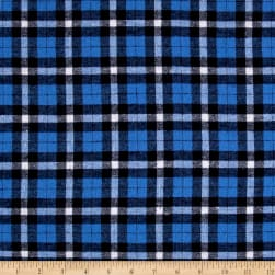 Yarn Dyed Flannel Sebastian Blue Fabric