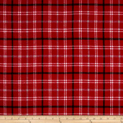 Yarn Dyed Flannel Smokey Red Fabric
