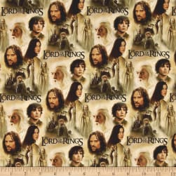 Lord of the Rings Two Towers Collage Fabric