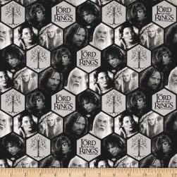 Lord of the Rings Polygons Grey Fabric