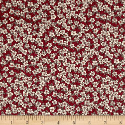 Liberty Fabrics Tana Lawn Ffion Red Fabric