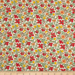 Liberty Fabrics Tana Lawn Meadow Orange Fabric