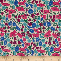 Liberty Fabrics Tana Lawn Poppy and Daisy Pink