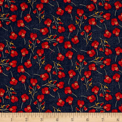 Liberty Fabrics Tana Lawn Ros Red Fabric