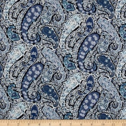 Liberty Fabrics Tana Lawn Bourton Blue Fabric