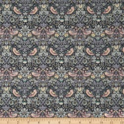 Liberty Fabrics Tana Lawn Strawberry Thief Grey Fabric