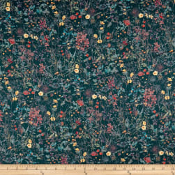 Liberty Fabrics Tana Lawn Wildflowers Navy Fabric