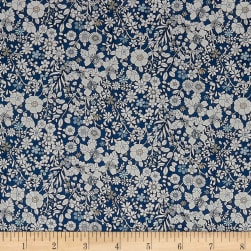 Liberty Fabrics Tana Lawn June's Meadow Navy Fabric