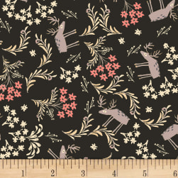 Dear Stella For Fox Sake Reindeer Coffee Fabric