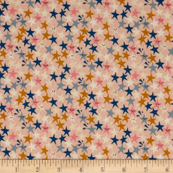 Cotton + Steel Paper Cuts Starstruck Peachy Fabric