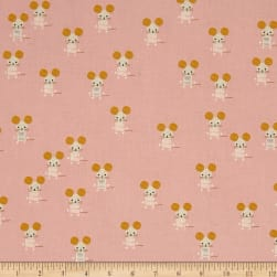 Cotton + Steel Sunshine Little Friends Pink Fabric