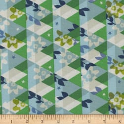Cotton + Steel Flutter Kaleidoscope Green Fabric